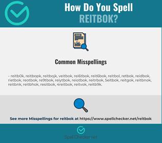 Correct spelling for reitbok