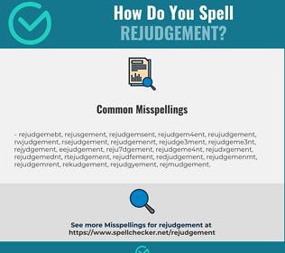 Correct spelling for rejudgement