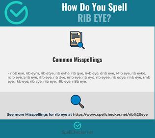 Correct spelling for rib eye
