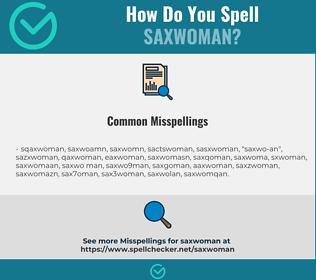 Correct spelling for saxwoman