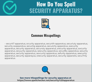 Correct spelling for security apparatus