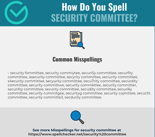 Correct spelling for security committee