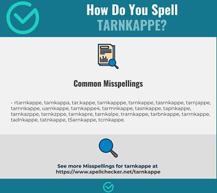 Correct spelling for tarnkappe