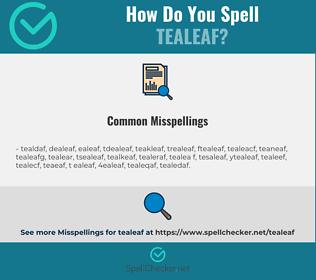 Correct spelling for tealeaf