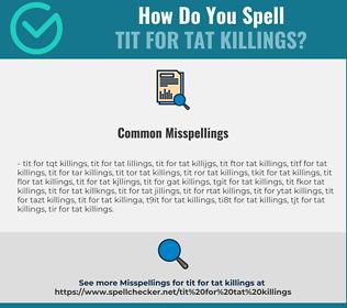 Correct spelling for tit for tat killings