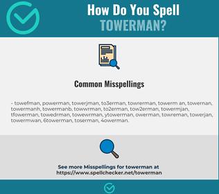 Correct spelling for towerman