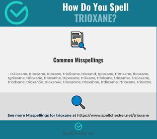 Correct spelling for trioxane