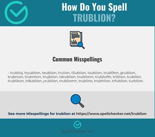 Correct spelling for trublion