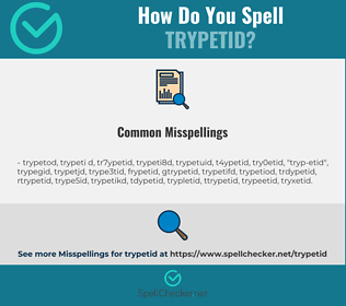 Correct spelling for trypetid