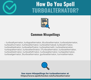 Correct spelling for turboalternator