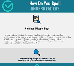 Correct spelling for underreader