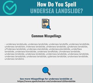 Correct spelling for undersea landslide