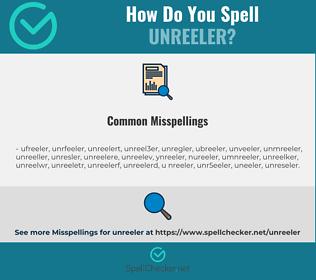 Correct spelling for unreeler