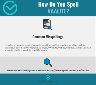 Correct spelling for vaalite