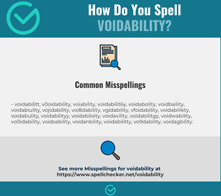 Correct spelling for voidability