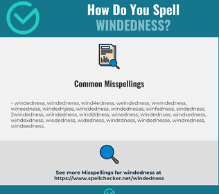 Correct spelling for windedness