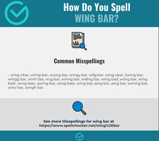 Correct spelling for wing bar