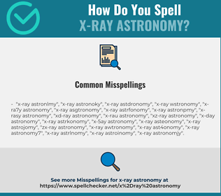 Correct spelling for x-ray astronomy