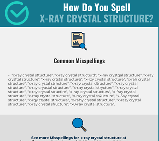 Correct spelling for x-ray crystal structure
