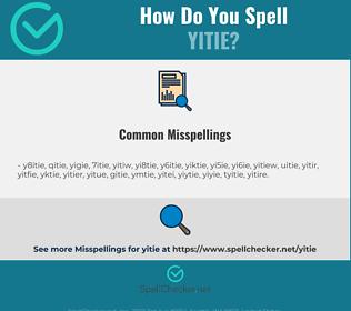 Correct spelling for yitie