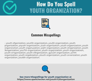 Correct spelling for youth organization