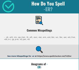 Correct spelling for -er