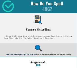 Correct spelling for -ing