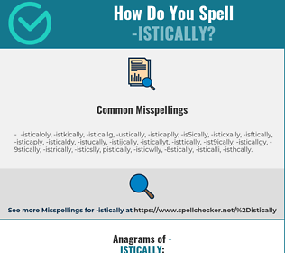 Correct spelling for -istically