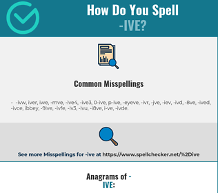 Correct spelling for -ive