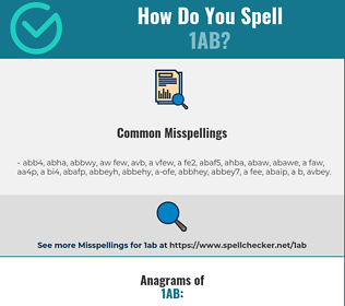 Correct spelling for 1ab