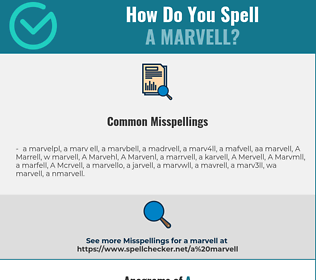Correct spelling for A Marvell
