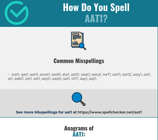 Correct spelling for AAT1