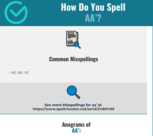 Correct spelling for AA'