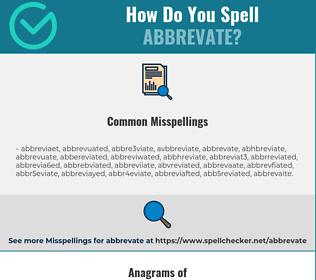 Correct spelling for ABBREVATE