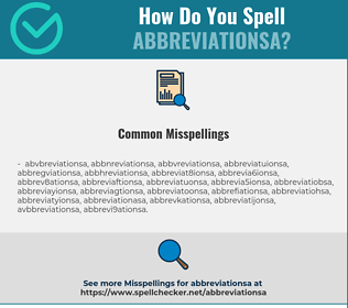 Correct spelling for ABBREVIATIONSA