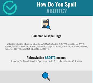 Correct spelling for ABOTTC