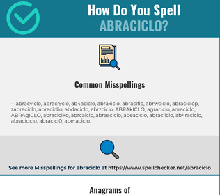 Correct spelling for ABRACICLO