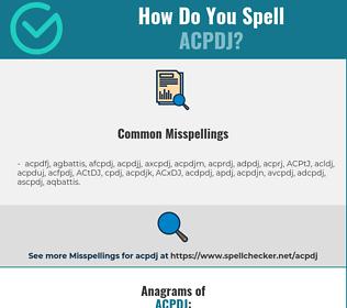 Correct spelling for ACPDJ