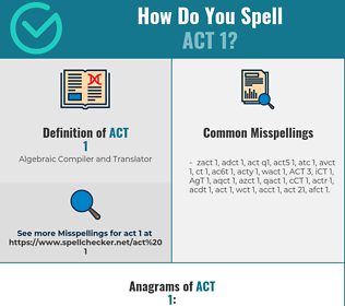 Correct spelling for ACT 1