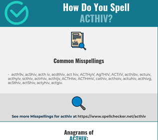 Correct spelling for ACTHIV
