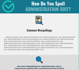 Correct spelling for ADMINISTRATION SUIT