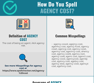 Correct spelling for AGENCY COST