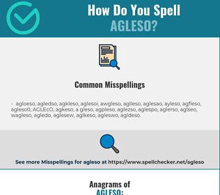 Correct spelling for AGLESO