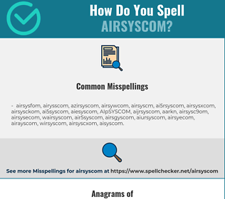 Correct spelling for AIRSYSCOM