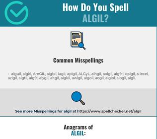 Correct spelling for ALGIL