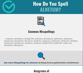 Correct spelling for ALNETUM