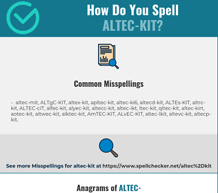 Correct spelling for ALTEC-KIT