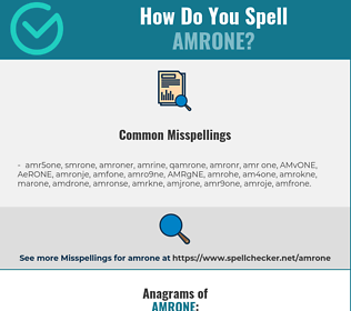 Correct spelling for AMRONE