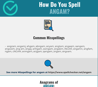 Correct spelling for ANGAM