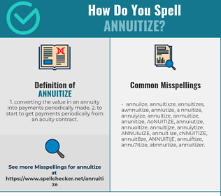 Correct spelling for ANNUITIZE